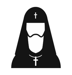 Christian russian priest simple icon vector image