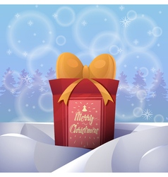 Christmas greeting card background poster Merry vector image vector image