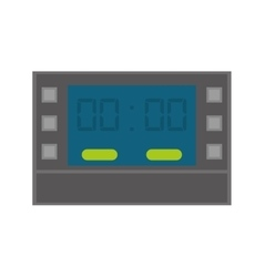 Digital clock icon time design graphic vector