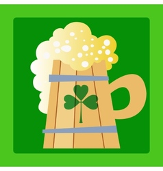 Foamy mug of beer a day patrick vector