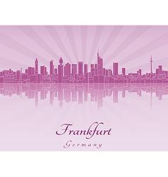 Frankfurt skyline in purple radiant orchid vector