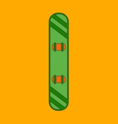Icon in flat design snowboard vector