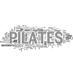 Is pilates a new fitness trend right for you text vector