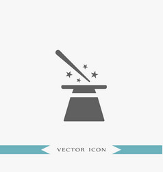 Magician hat icon party vector