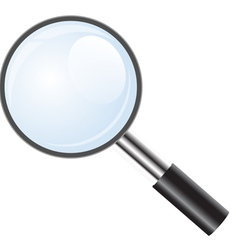 Magnifying glass icon search icon vector image vector image