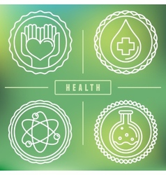 Outline logos - healthcare and medicine vector