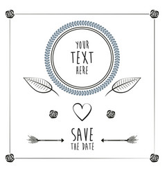 save the date romantic card wedding heart vector image