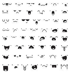 Set of 52 different pieces doddle emotions to vector image