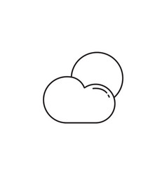 Weather line icon sun with cloud modern sign vector