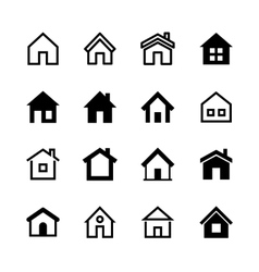 Home icons set homepage - website or real estate vector