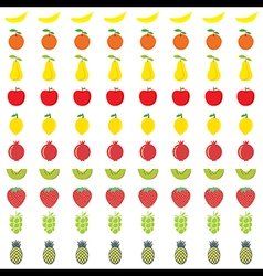 colorful different fruit pattern background design vector image