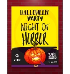 Jack pumpkin party poster vector