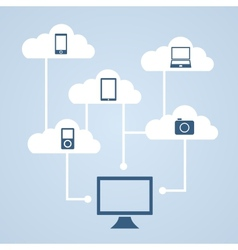 Concept of cloud storage vector