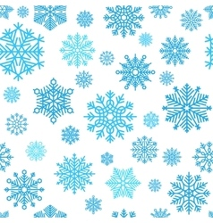 Winter snowflake pattern vector