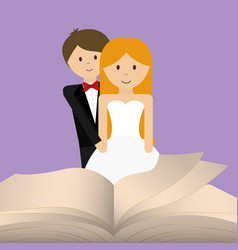 get married couple bible card vector image