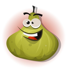 Comic funny fig character vector