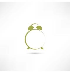 Line green alarm clock vector image