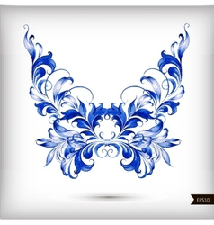Watercolor blue butterfly vector