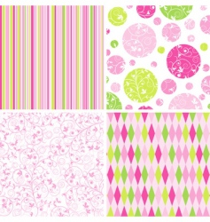 scrapbook patterns for design vector vector image