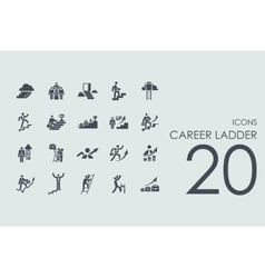 Set of career ladder icons vector