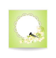 Birds and flower vector