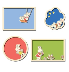 Frames with rabbits vector