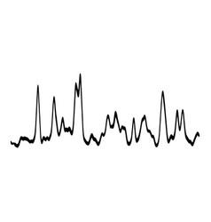 Audio equalizer waveform icon simple black style vector