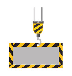 construction board hanging icon vector image