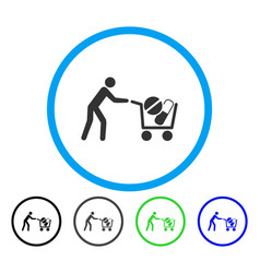 drugs shopping cart rounded icon vector image vector image