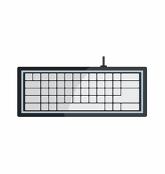 Flat hardware keyboard icon for repair service vector