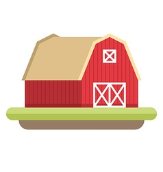Flat Style of Farmhouse Farming concept vector image