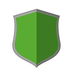 Green shield protection insignia decorative shadow vector