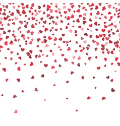 Heart fall background Love and valentine day or vector image vector image