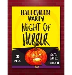 Jack pumpkin party poster vector image