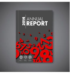 Modern abstract annual report design template vector