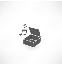 Music Box icon vector image