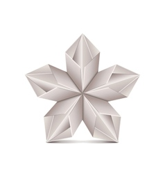 Origami flower isolated on white vector
