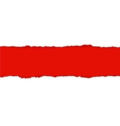 Red fragmentary paper border vector
