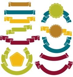 retro ribbons labels set vector image vector image