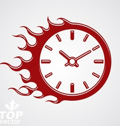 Time runs fast conceptual business icon clock vector image