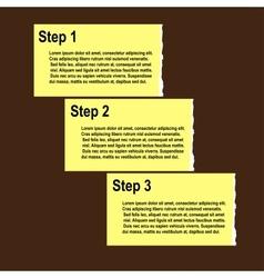 Torn paper progress option or steps background vector image vector image