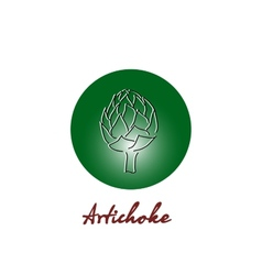 Vitamin artichoke doodle pattern for kitchen vector