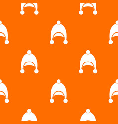 warm hat pattern seamless vector image vector image