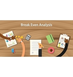 Break even analysis with team work vector