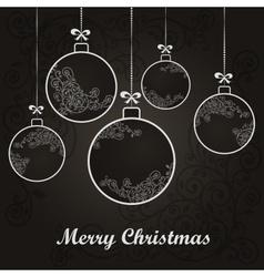 Christmas ornament ball vector image