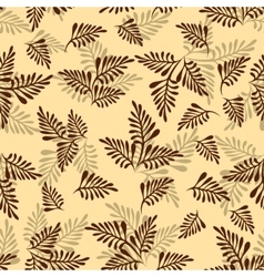Seamless background leaves silhouettes vector