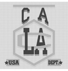 California College fashion design print for t vector image