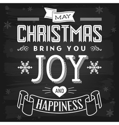 Christmas greetings chalkboard vector