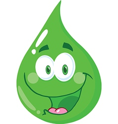 Water droplett cartoon vector image