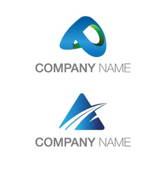LOGO A THEME technology abstract and industrial vector image